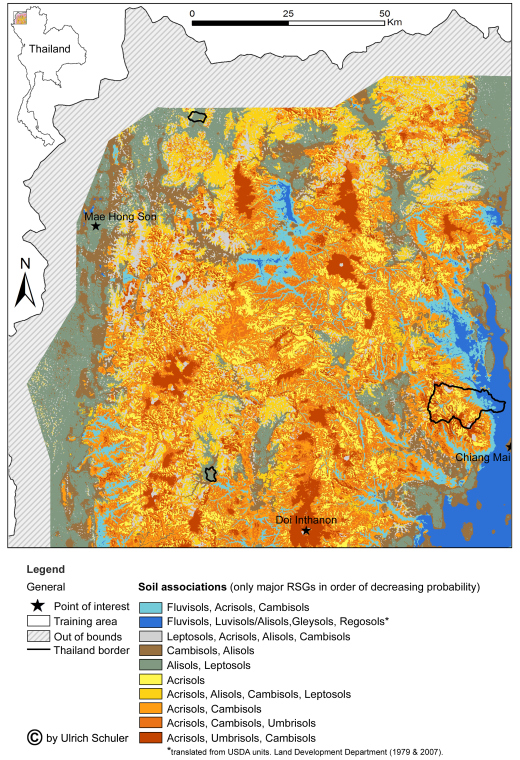 WRB Soil Map Northern Thailand